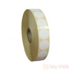 Самоклеящиеся термоэтикетки ЭКО 20x20 мм круглые